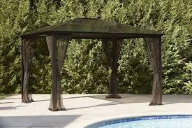 Lowes Gazebos Patio Furniture - garden oasis mission creek 10ft x 12ft hardtop gazebo shop your