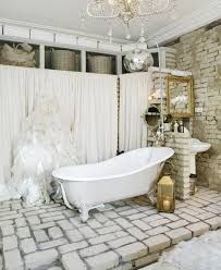 add glamour with small vintage bathroom ideas vintage bathroom theme idea with brick wall and