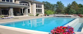 large awesome home swimming pool designs with black deck pool can