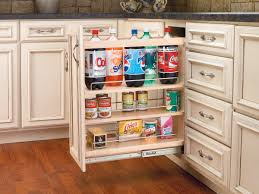 Kitchen Cabinets With Pull Out Shelves by Slide Out Pantry Cabinet Made Of Wood In Light Brown Finished