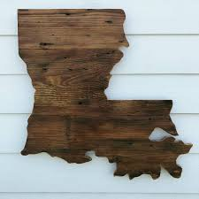 Wood Decor by Reclaimed Wood Louisiana Sign Rustic State Outline Rustic