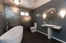 Modern Grey Bathroom Ideas Modern Gray Bathroom Remodel Eclectic Bathroom Los Angeles By