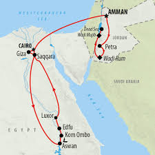 Jordan Country Map Jordan Tours Holidays To Jordan On The Go Tours
