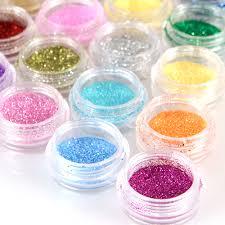 pro 30 colour glitter dust powder beads uv gel polish nail art tip