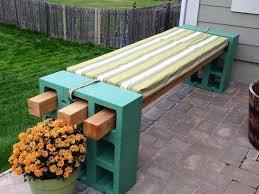 Build Wood Garden Bench by Best 25 Cinder Block Furniture Ideas On Pinterest Cinder Block