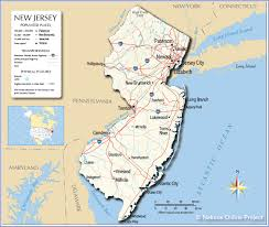 Map Of Pennsylvania And New Jersey by Reference Map Of New Jersey Usa Nations Online Project