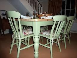 Pine Farmhouse Kitchen Table With  ChairsPainted Vintage - Farmhouse kitchen tables