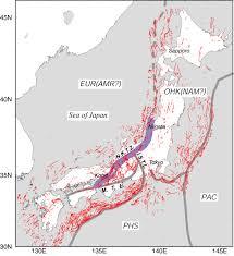 Tectonic Plate Map Niigata Kobe Tectonic Zone