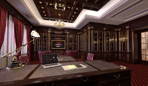 Home Library Lighting Design by Indesignclub Study Room With Home Library Interior In Classic Style