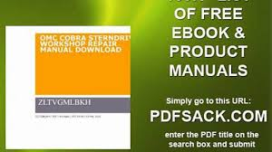 100 omc repair manuals seloc service repair manuals