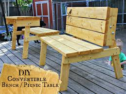 Plans To Build A Picnic Table Bench by The Good Kind Of Crazy Convertible Bench Picnic Table You Can