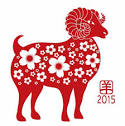 Year of the Goat Silhouette with Flower Pattern 2015 Vector misc.