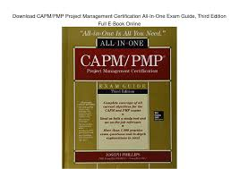download capm pmp project management certification all in one exam