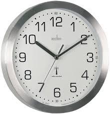 acctim 74407 mason radio controlled wall clock silver amazon co