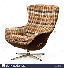 Upholstered Swivel Chairs Vintage Upholstered Swivel And Tilt Egg Chair Stock Photo Royalty