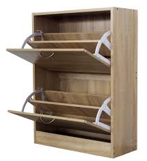 Shoe Storage Furniture by Foxhunter Wooden Shoe Storage Cabinet 2 Drawer Footwear Stand Rack