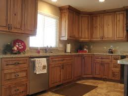 Kitchen Cabinet Colour Kitchen Cabinets Knotty Cherry Lec Cabinets Rustic Cherry