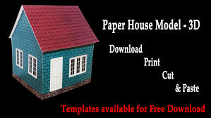 House 3d Model Free Download by How To Make A Paper House 3d House Model Hd Very Easy Youtube