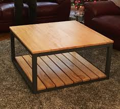 ana white modified industrial style coffee table w bottom shelf