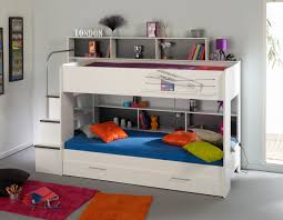 Bunk Beds With Slide And Stairs Bedroom Wooden Bunk Beds With Stairs With Drawers And White Bed