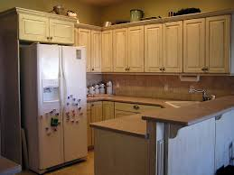 Old Wooden Kitchen Cabinets U Shaped White Stained Wooden Kitchen Cabinet With Gray Marble