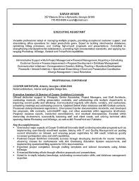 Executive Assistant Resume Example   Sample Executive Assistant Resume Example