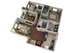 One Room Apartment Floor Plans One Bedroom Apartment Floor Plans 3d