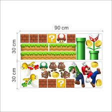 Super Mario Home Decor by Kids Room Cartoon Vinyl Wall Sticker Decal Home Decor Giant Big