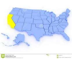 States Of United States Map by 3d Map Of United States State California Royalty Free Stock