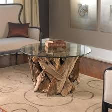 Round Wooden Table Top View Plymouth Coastal Beach Teak Driftwood Round Glass Coffee Table