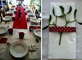 Christmas Decor In The Home Diy Christmas Table Decorations In Red My Italian Wedding