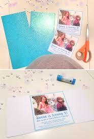 Printable Invitation Card Stock Diy Frozen Party Invitation Tutorial Free Printable At Home