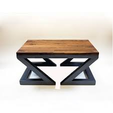 Retro Sofa Table by Village Old Iron Real Wood Coffee Table Living Room Solid Wood
