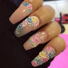 17 3d flower nail design 129 acrylic nail art designs ideas