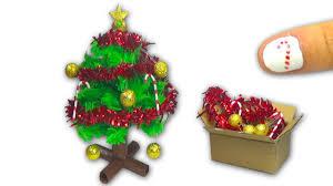 how to make a doll christmas tree and christmas decorations diy