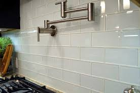 White Subway Tile Backsplash Ideas by White Glass Subway Tile Backsplash Large Tile U0026 Stone Warehouse