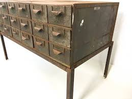 Repurposed Coffee Table by Vintage Lyon 18 Drawer Card Catalog Parts Cabinet With Dividers