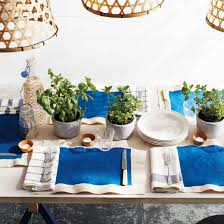 Black Blue And Silver Table Settings Party Colors U0026 Themes Martha Stewart
