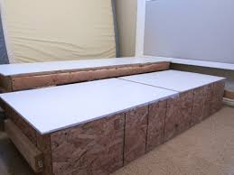King Platform Bed Frame With Drawers Plans by Bed Frames Diy Bed Headboard Diy King Platform Bed How To Build