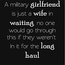 Military Girlfriend Quote