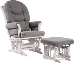 Upholstered Glider Furniture Grey Upholstered Glider And Ottoman Chairs For Bedroom