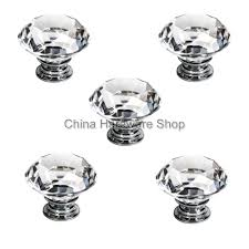 from us 5 x 40mm clear crystal door knob for home amp garden