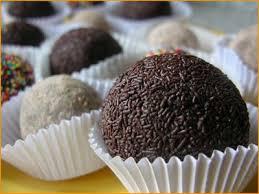 Trufas de chocolate, de coco, y de nueces