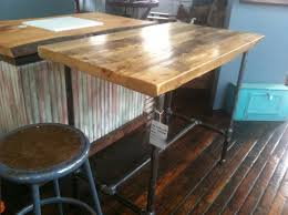 Reclaimed Kitchen Islands Super Cool Pub Height Table Or Island Made From Reclaimed Wood And