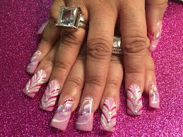 pink and white ice cream delight nail art designs by top nails
