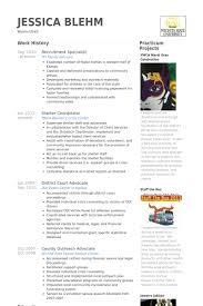 Recruiting Resume Examples by Recruitment Specialist Cv örneği Visualcv özgeçmiş örnekleri