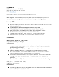 Junior Accountant Resume Sample by 28 Sample Resume For Tax Accountant Example Tax Preparer