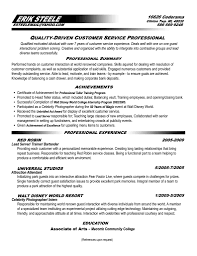 Resume For Customer Service  resume template customer service cv