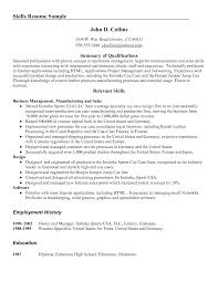 Resume Examples  Skills Resume Example With Summary Qualifications In Networking Software And Product Design Or     Rufoot Resumes  Esay  and Templates