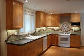 Mosaic Tiles For Kitchen Backsplash Kitchen Wooden Kitchen Cabinets Granite Countertops Mosaic Tile